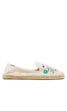 Soludos Mexican Embroidered Espadrille en Imprimé Sable