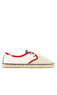 Soludos Colorblock Derby Lace Up in Natural Grey Mesh