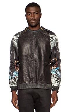 Sons of Heroes Mothball Leather Sweatshirt in Black