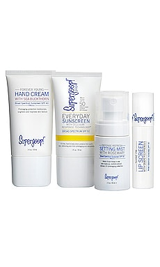 ENSEMBLE DE PROTECTION SOLAIRE LIVE IN THE SUNSHINE KIT Supergoop! $45