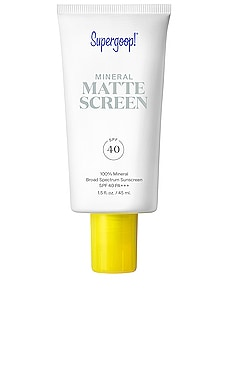 ÉCRAN SOLAIRE TEINTÉ POUR LE VISAGE SMOOTH + PORELESS MATTE SCREEN SPF 40 Supergoop! $38 BEST SELLER