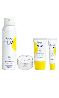 KIT DE PROTECCIÓN SOLAR READY SET PLAY Supergoop! $45