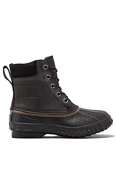 Sorel Cheyanne Lace Full Grain in Black/ Dark Brown
