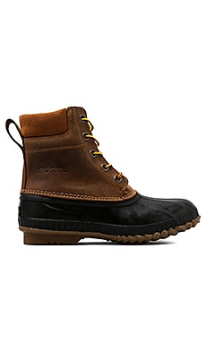 Sorel Cheyanne Lace Full Grain in Chipmunk/Black