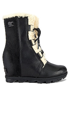 Joan of Arctic Wedge II Shearling Bootie In Black Sorel $250