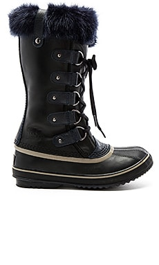 Joan of Arctic Obsidian Boot with Faux Fur