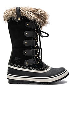 Joan of Arctic Faux Fur Boot in Black