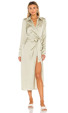 Maggie Wrap Dress in Olive Song of Style $188