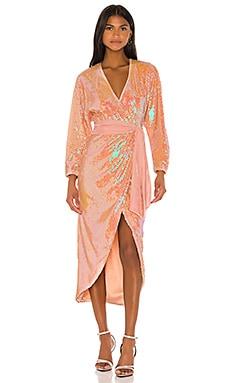 Платье миди vernon - Song of Style С запахом фото