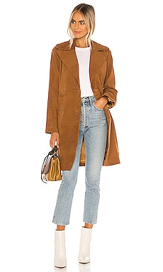 Song Leather Trench Coat Song of Style $628