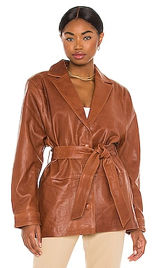 Bennie Leather Jacket Song of Style $515 NEW