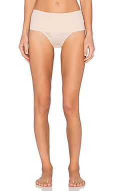 SPANX Lace Thong in Soft Nude