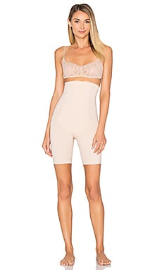 Thinstincts Targeted High Waisted Short in Soft Nude