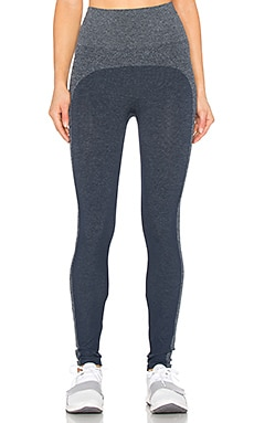 Marled Seamless Leggings in Port Navy