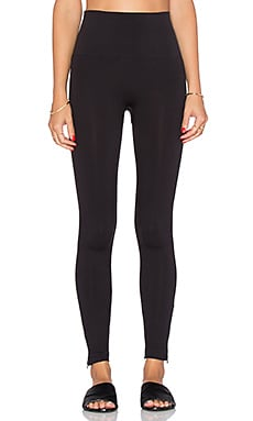Seamless Side Zip Leggings in Very Black