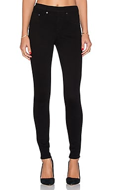 Twill Jegging in Very Black