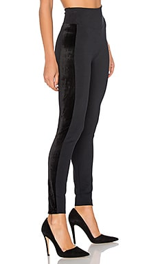 Ponte Velvet Legging en Very Black