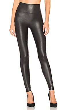 Faux Leather Leggings in Black