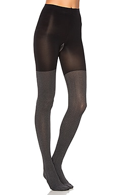 Herringbone Tights in Very Black