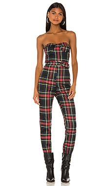 Sable Strapless Jumpsuit superdown $74