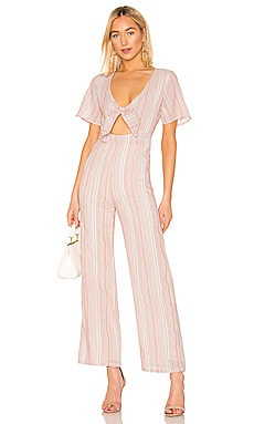 Mollie Tie Front Jumpsuit superdown $20