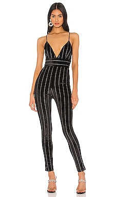 x Draya Michele Georgie Deep V Jumpsuit superdown $72