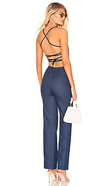 Irene Strappy Back Jumpsuit superdown $52