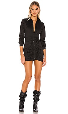Colette Ruched Shirt Dress superdown $66