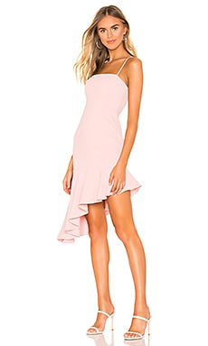 Malaya Asymmetric Ruffle Dress superdown $72