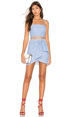 Tasha Wrap Skirt Set superdown $72
