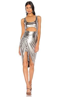 Платье с переплетом спереди jamia - superdown Коктейльное фото