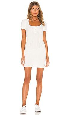 Ashton Square Neck Dress superdown $62