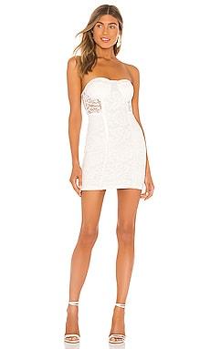 Мини-платье без бретель lian - superdown Кружево фото