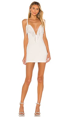 Katey Rhinestone Fringe Dress superdown $88