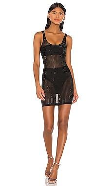 Ivanne Studded Sheer Dress superdown $26 (FINAL SALE)