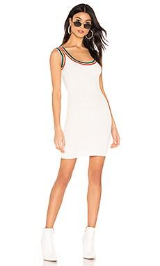 Drea Rainbow Ribbed Mini Dress superdown $40