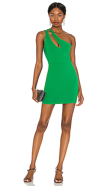 Nava Asymmetrical Mini Dress superdown $62 NEW
