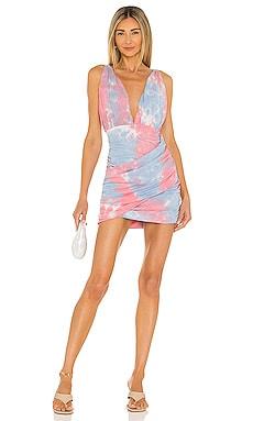 Georgie Ruched Mini Dress superdown $66