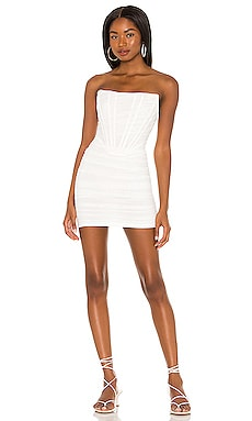Sonya Bustier Mesh Dress superdown $84 NEW