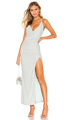 Karmin Ruched Maxi Dress superdown $98