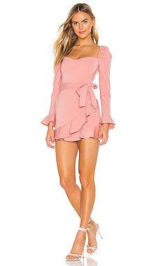 Khloe Ruffle Sleeve Mini Dress superdown $66