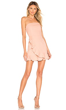 5026a528022e3 Rosie Strapless Ruffle Dress superdown  68 ...