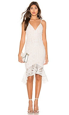 Tina Ruffle Midi Dress superdown $74