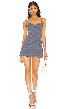 Justina Twisted Flare Dress superdown $72