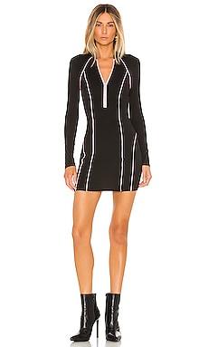eabb3dcb99a13 Marina Zip Front Dress Black & Pink superdown $68 ...