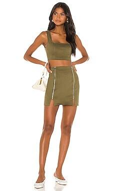 Jodie Zipper Skirt Set superdown $68 NEW ARRIVAL