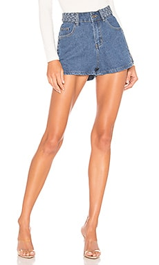 x REVOLVE Angeline Braided Denim Shorts superdown $43