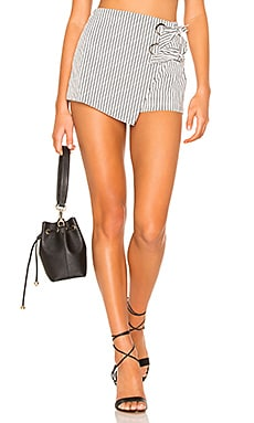 Alaya Grommet Wrap Skort superdown $35