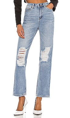 x Draya Michele Agatha Straight Leg Jeans superdown $66