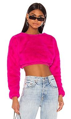 Michelle Faux Fur Top superdown $24 (FINAL SALE)